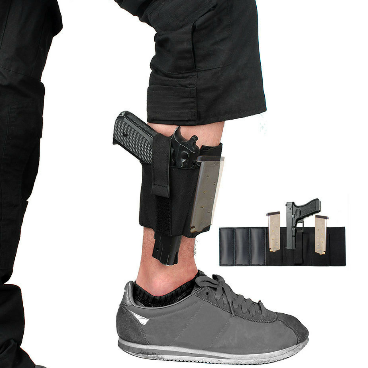 FREE Ankle Holster - 2 Mag Holders