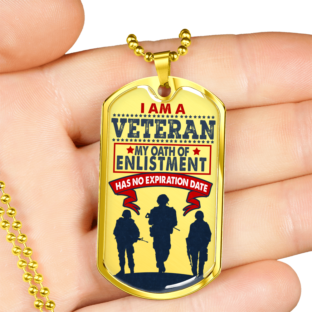 I am a Veteran - Dog Tags