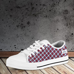 Plaid USA MAGA - Low Top Shoes