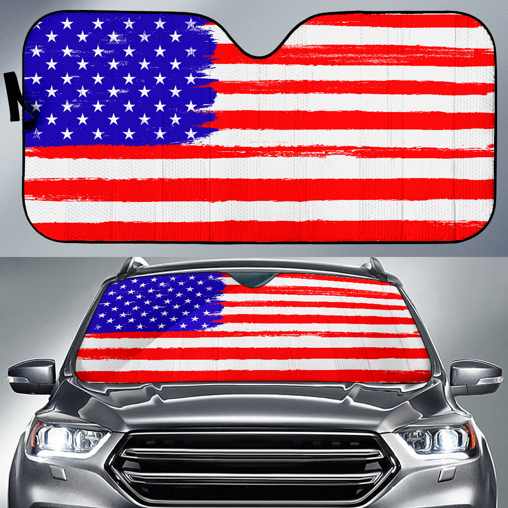 USA Flag Auto Sun Shade