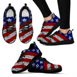 American Pride Women's Sneakers (Black)