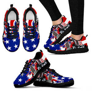 Custom Hand Made American Trucker Women's Sneakers