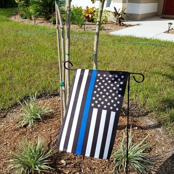FREE Thin Blue Line GARDEN Flag - 1 ft x 1.5 ft