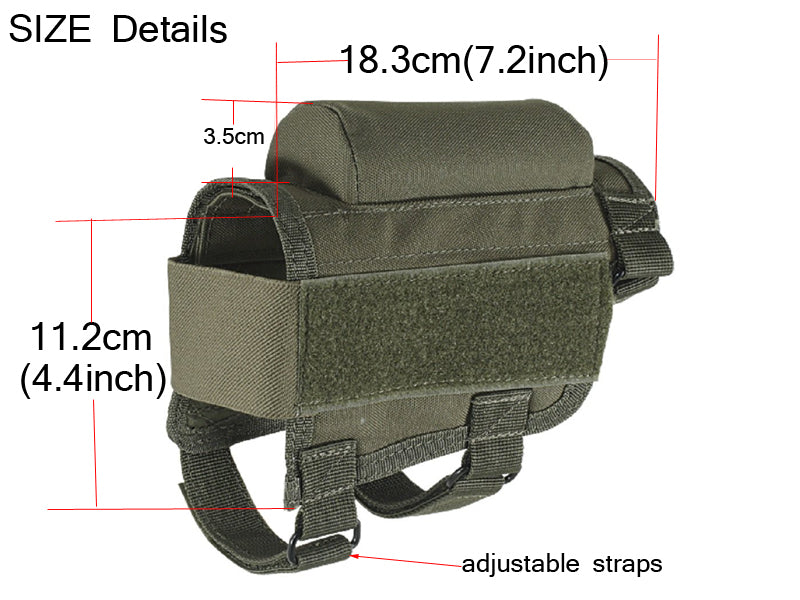 Tactical Buttstock Cheek Piece and Shell Holder