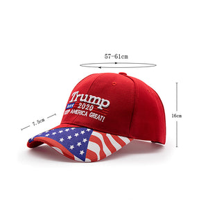 Trump 2020 American Flag Hat
