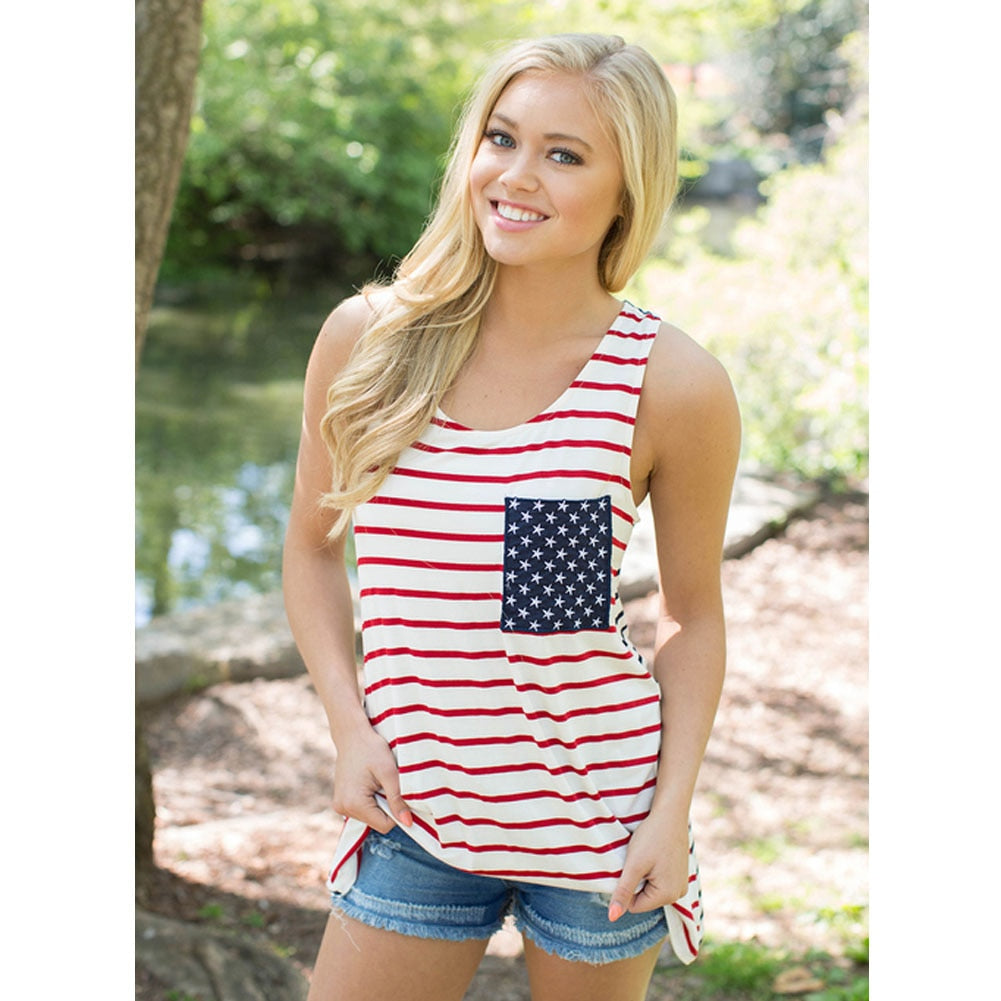 Proud Stars and Stripes Tank Top