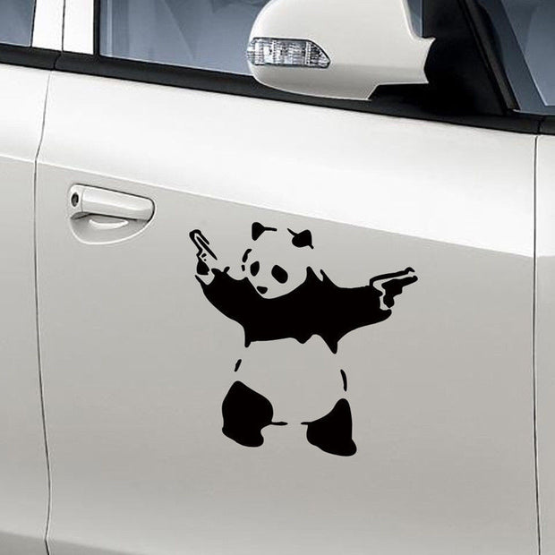 Gun Panda Car Decal