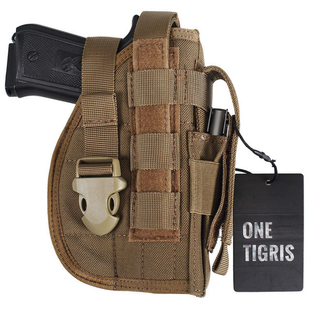 Heavy Duty Pistol Holster with Extra Mag Holder