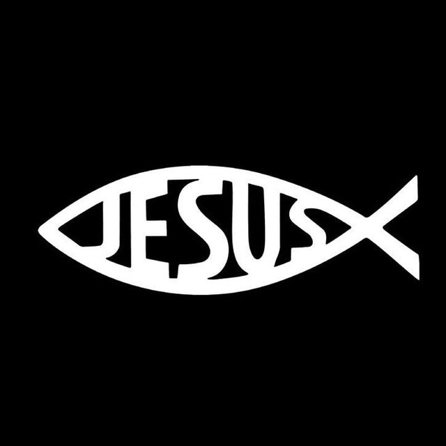 Jesus Fish Vinyl Car Decal