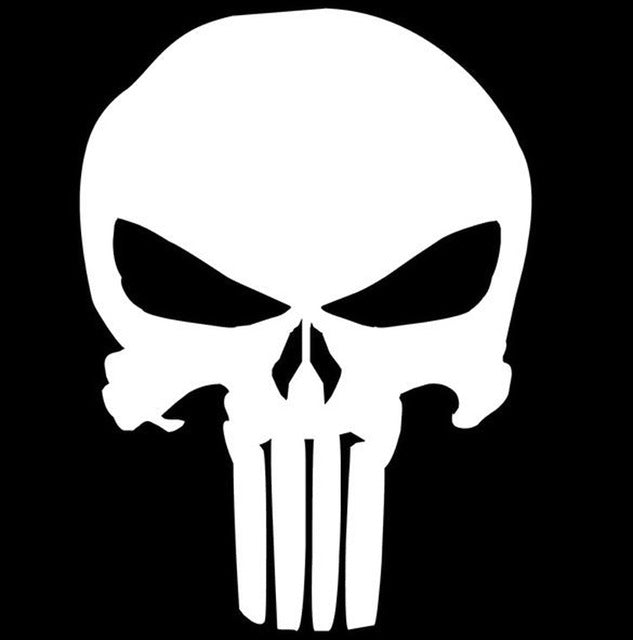 Punisher Skull Car Decal