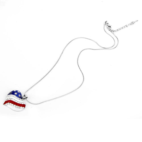 Stars and Stripes Heart Necklace