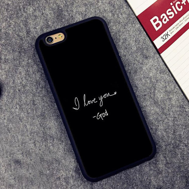 """I Love You"" - God Phone Case"