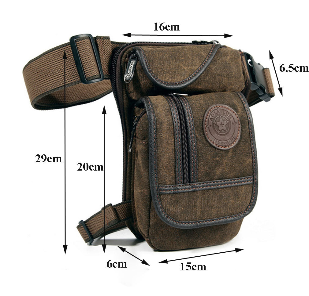 Multi-Purpose Leg Bag (Great for Bikers and CCW)