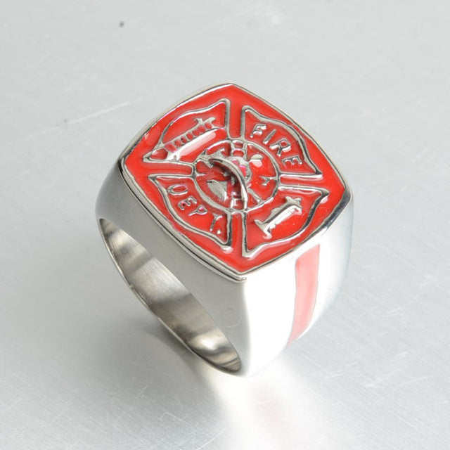 FREE Fire Dept. Thin Red Line Ring