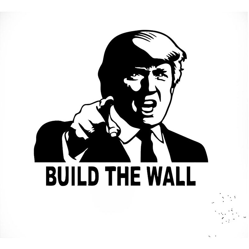 Trump - BUILD THE WALL Car Decal