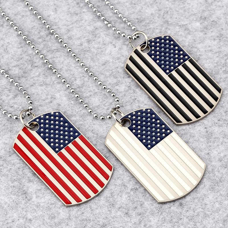 American Flag Dog Tags