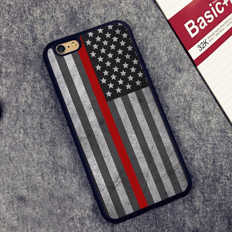 FREE Thin Red Line USA iPhone Case