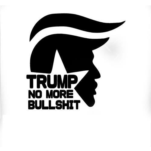 Trump No More BS Car Decal