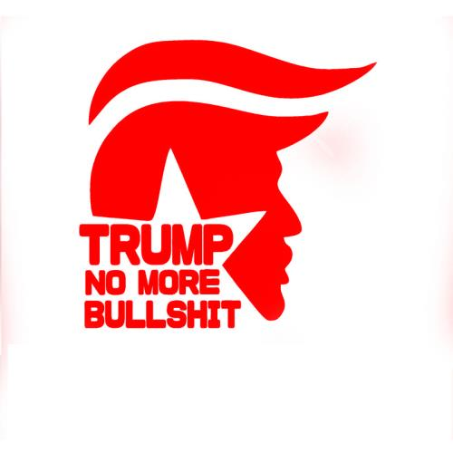 Trump No More BS Car Decals