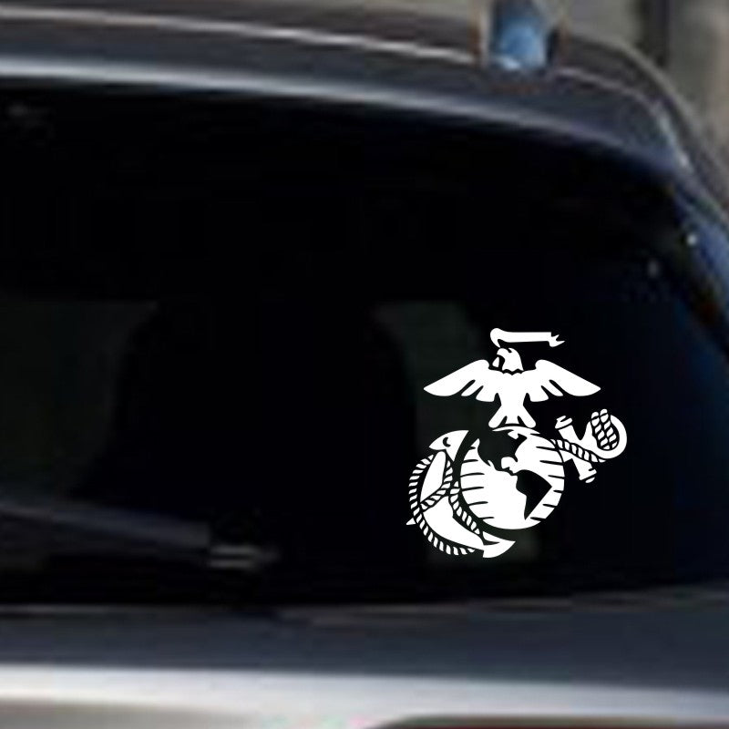 FREE - White Marine Corps Car Decal