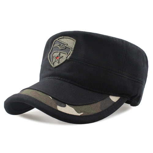 Camouflage Eagle Flat Cap (Adjustable)