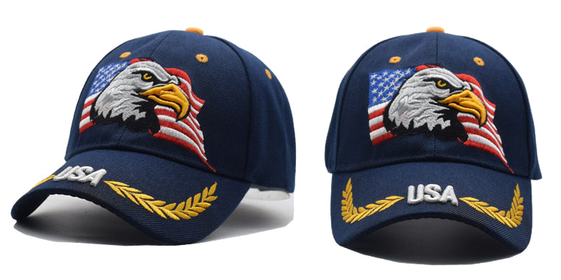 USA Flag & Eagle Caps
