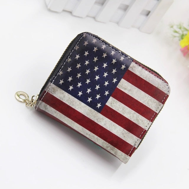 Women's USA Flag  Short Wallet