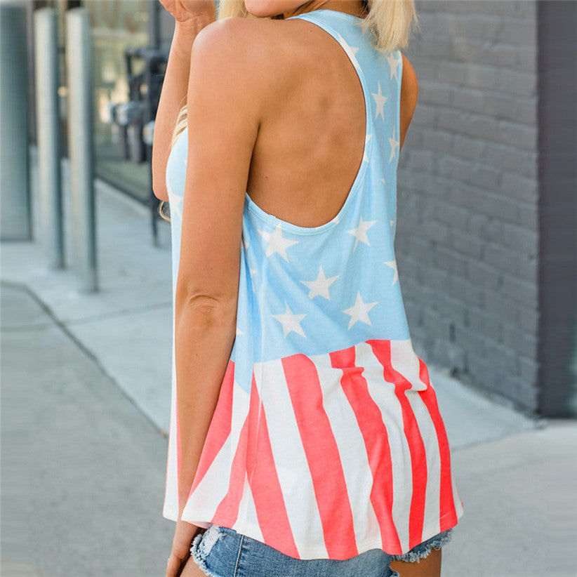 Ladies Pastel Flag - Sleeveless