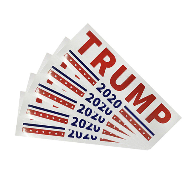 FREE - TRUMP 2020 BUMPER STICKERS! - PACK OF 5