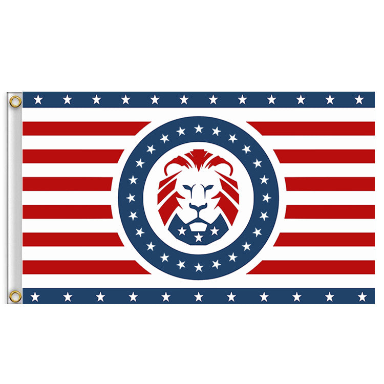 Trump Lion Flag