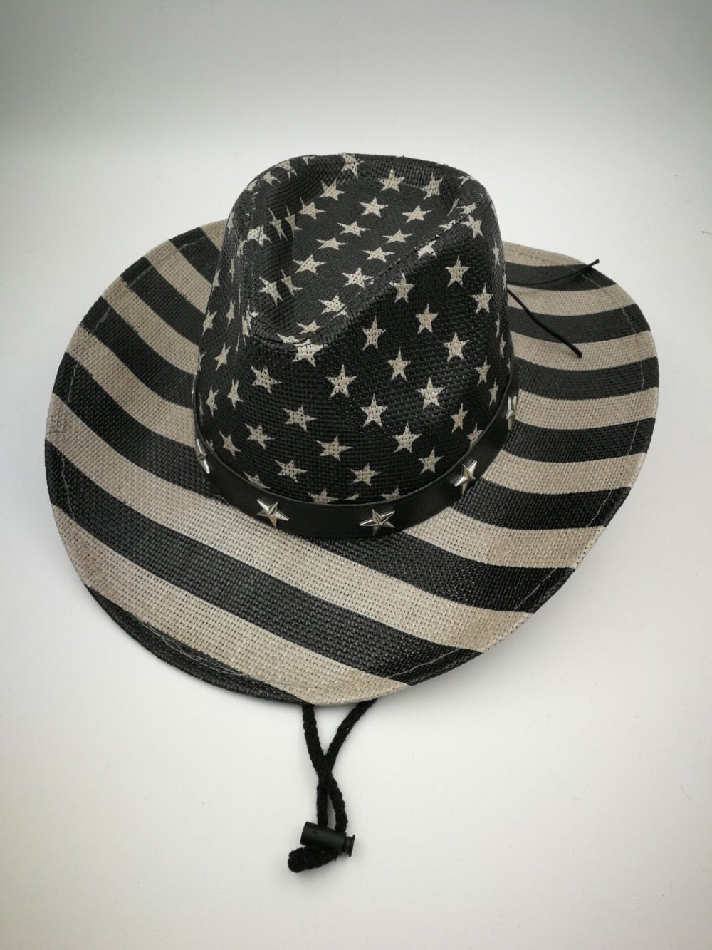 USA Cowboy Straw Hat