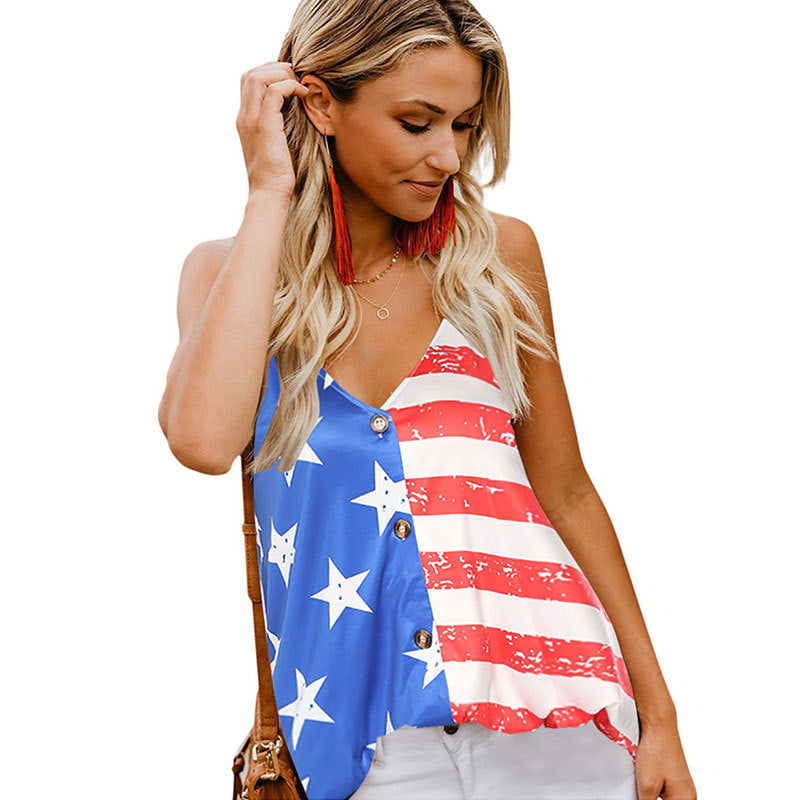 USA Flag Sleeveless