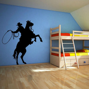 Cowboy Decal Room Stencil