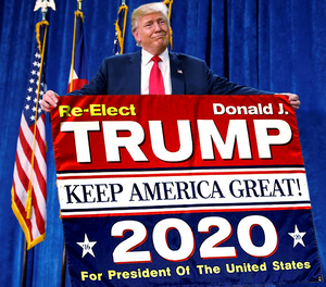 Trump 2020 Flag DJT (V2) - Keep America Great! - 3 ft x 5 ft