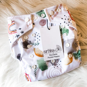 Reusable Pocket Nappies - Scattered Earth