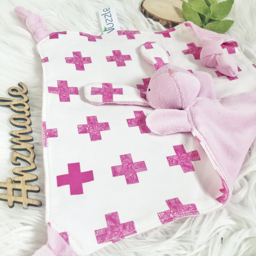 Pink Crosses + Plush Pink Velour