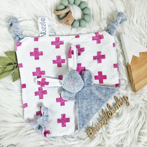 Pink Crosses + Plush Velour