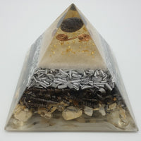 Medium Blue Aventurine Orgone Crystal Art Pyramid