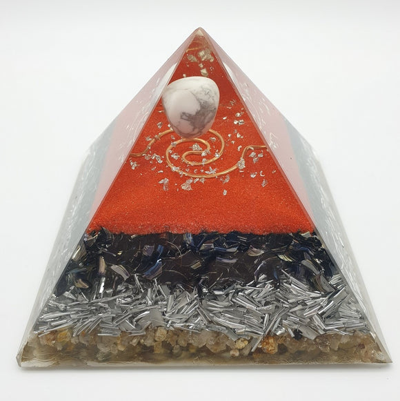 Medium Howlite Orgone Crystal Pyramid