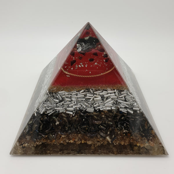 Large Shungite Orgone Art Pyramid