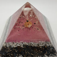 Large Rose Quartz Orgone Crystal Art Pyramid