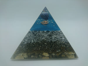 Medium Sodalite Orgone Crystal Art  Pyramid