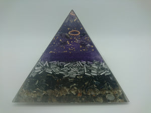 Medium Clear Quartz Orgone Crystal Pyramid