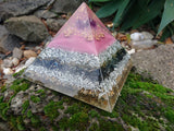 Large Amethyst Orgone Crystal Art Pyramid