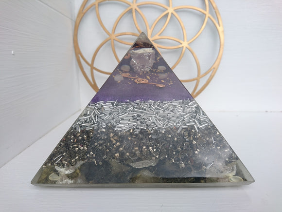 Large Rose Quartz Orgone Crystal Art
