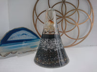 Large Citrine Orgone Crystal Art Dome