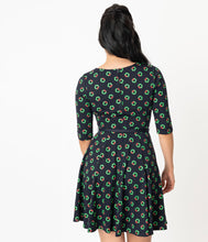 Unique Vintage Stephanie Fit & Flare Dress - Holiday Wreath