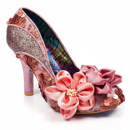 Irregular Choice Peach Melba Shoes - Pink