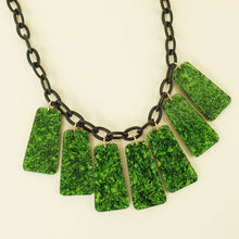 Bow & Crossbones Marcella Necklace - Green Marbled