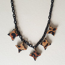 Bow & Crossbones Lola Star Necklace - Leopard